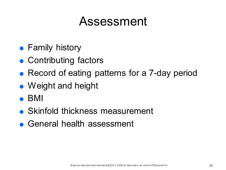 Assessment Family history Contributing factors