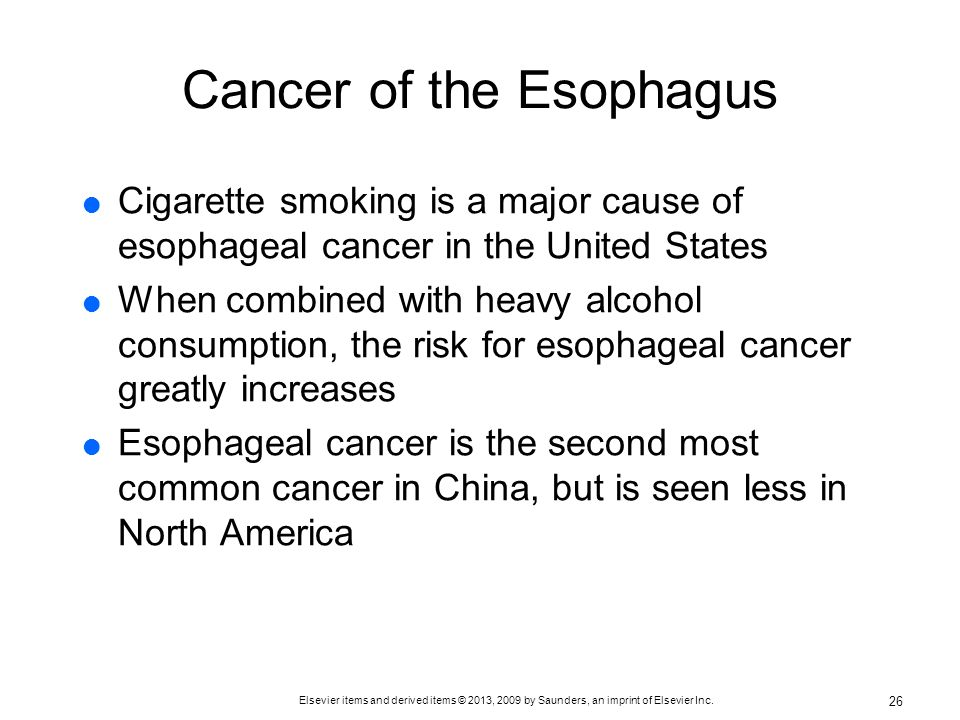 Cancer of the Esophagus