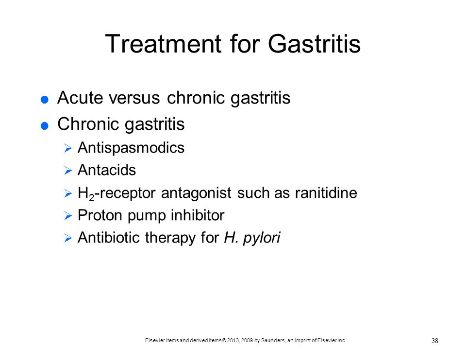 Treatment for Gastritis