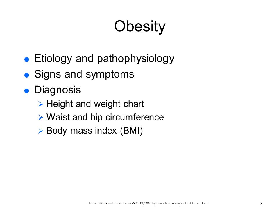 Obesity Etiology and pathophysiology Signs and symptoms Diagnosis