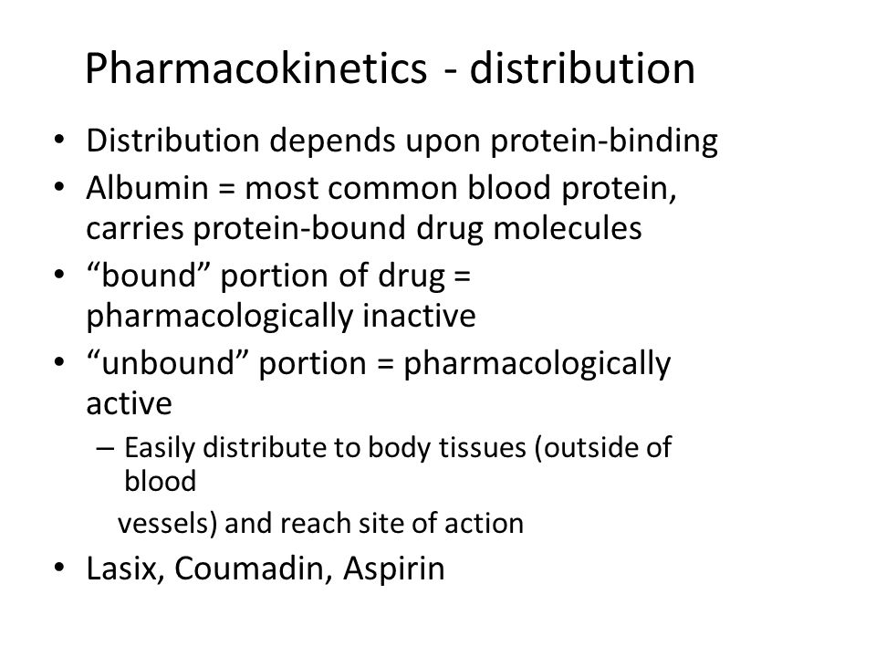 Pharmacokinetics - distribution