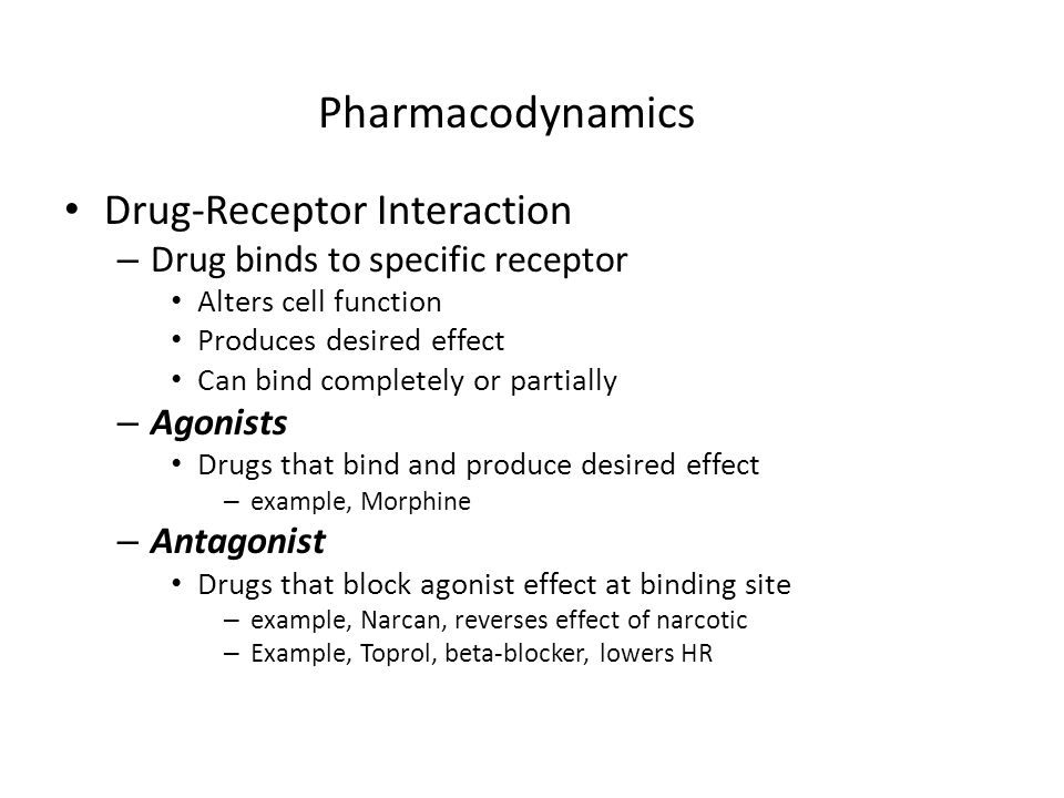 Pharmacodynamics Drug-Receptor Interaction