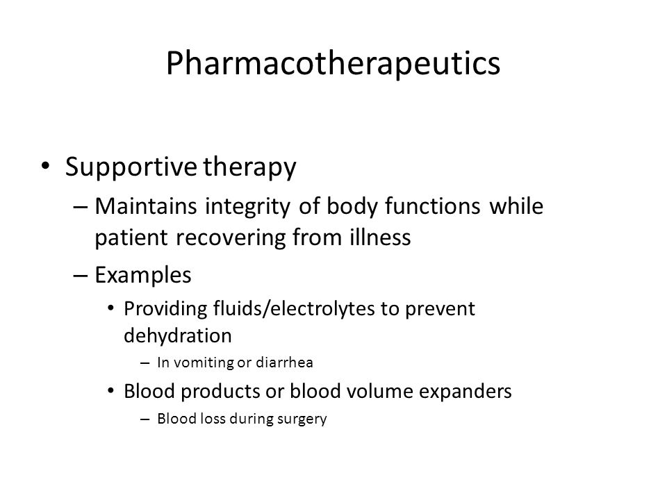 Pharmacotherapeutics