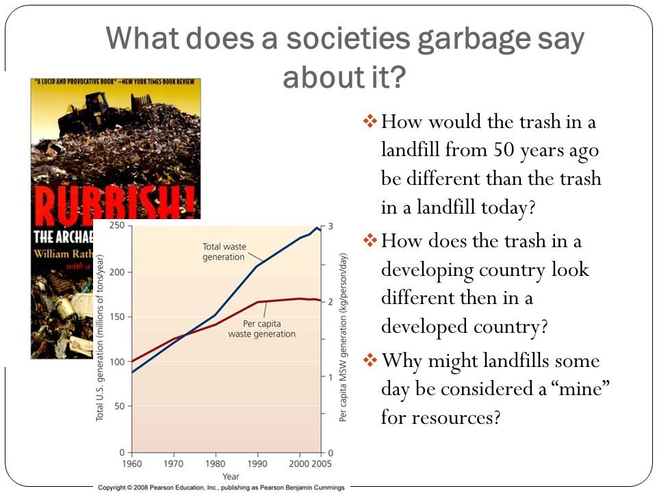 What does a societies garbage say about it