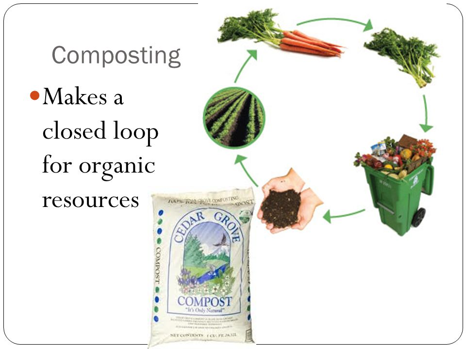 Makes a closed loop for organic resources