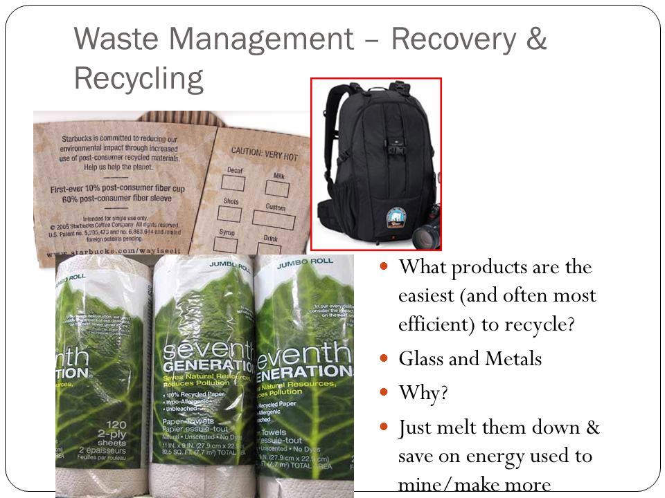 Waste Management – Recovery & Recycling