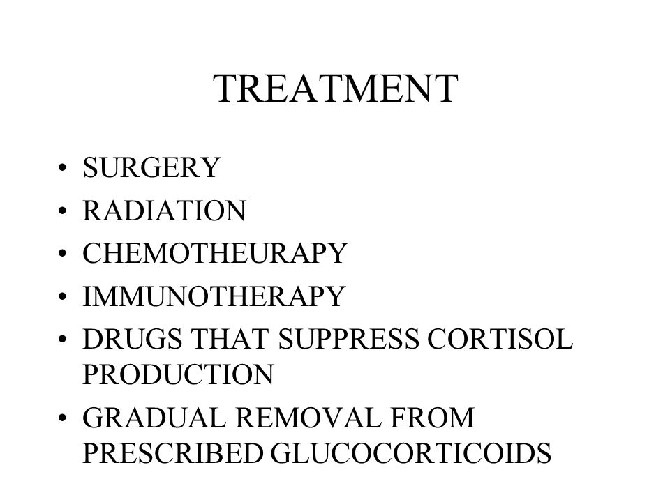 TREATMENT SURGERY RADIATION CHEMOTHEURAPY IMMUNOTHERAPY