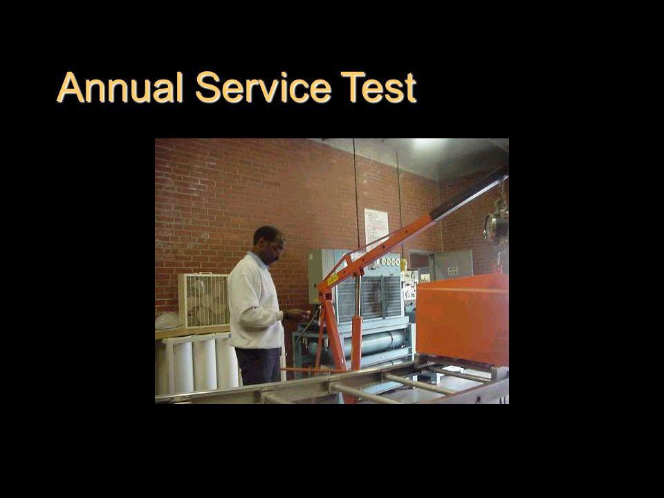 Annual Service Test
