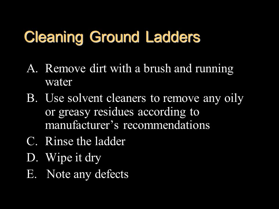 Cleaning Ground Ladders