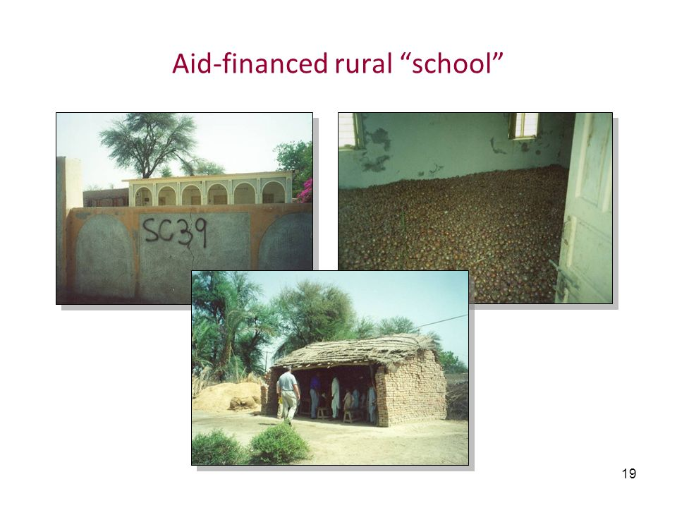 Aid-financed rural school