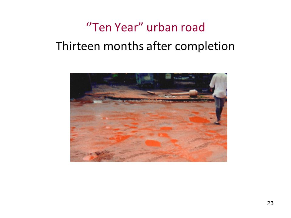 ''Ten Year urban road Thirteen months after completion