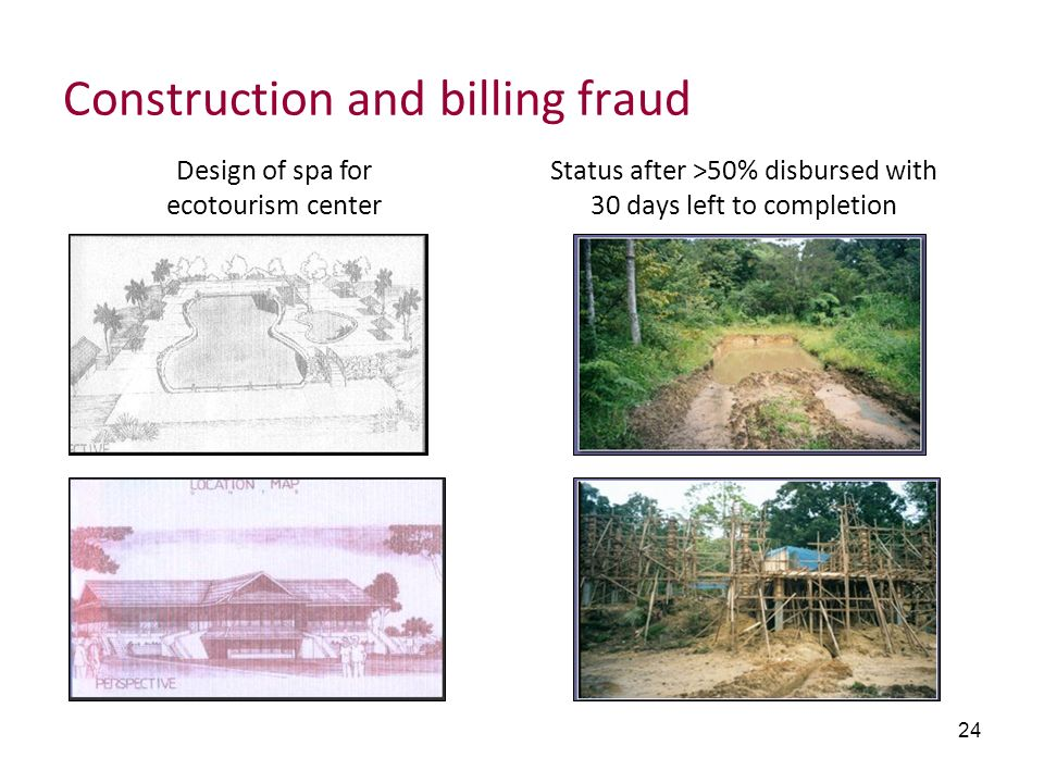 Construction and billing fraud