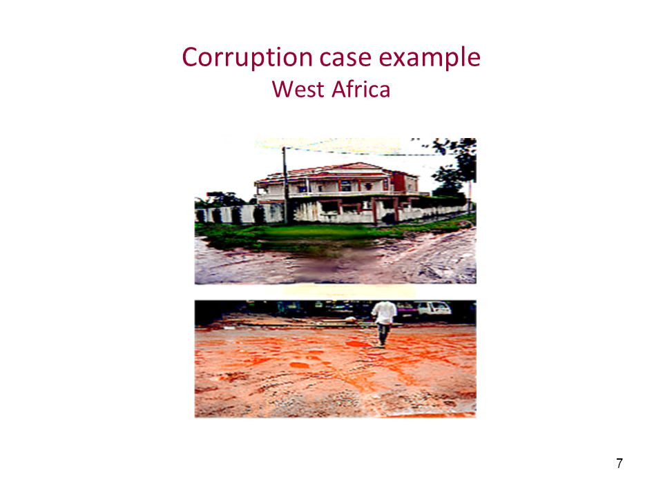 Corruption case example West Africa