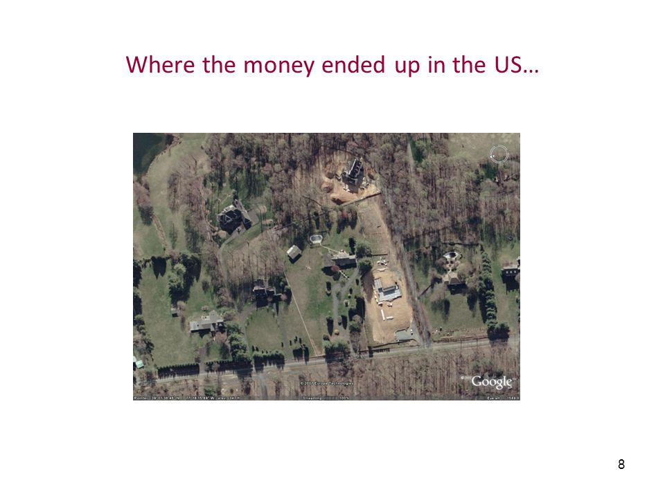 Where the money ended up in the US…