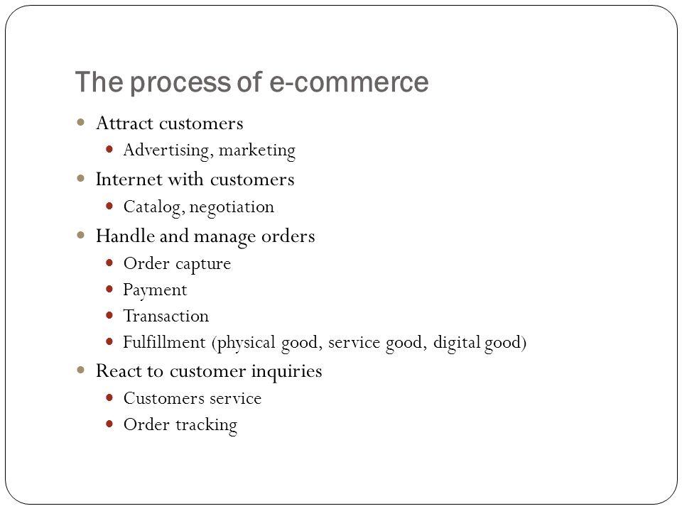The process of e-commerce