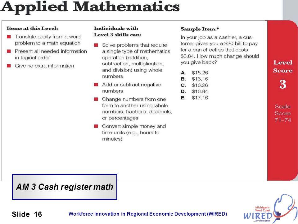 AM 3 Cash register math