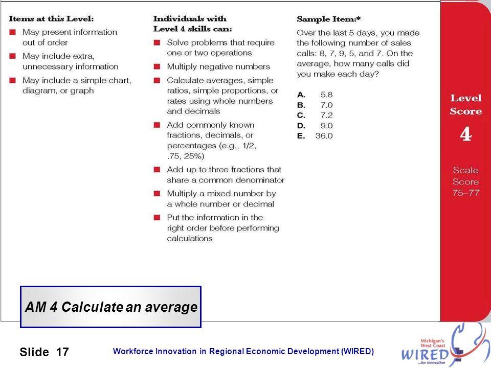 AM 4 Calculate an average
