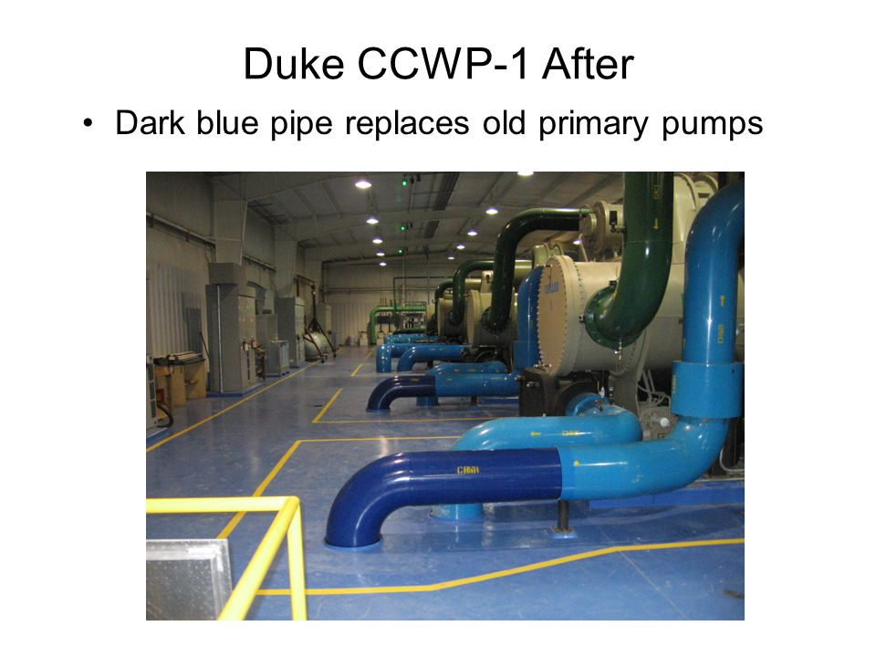 Duke CCWP-1 After Dark blue pipe replaces old primary pumps