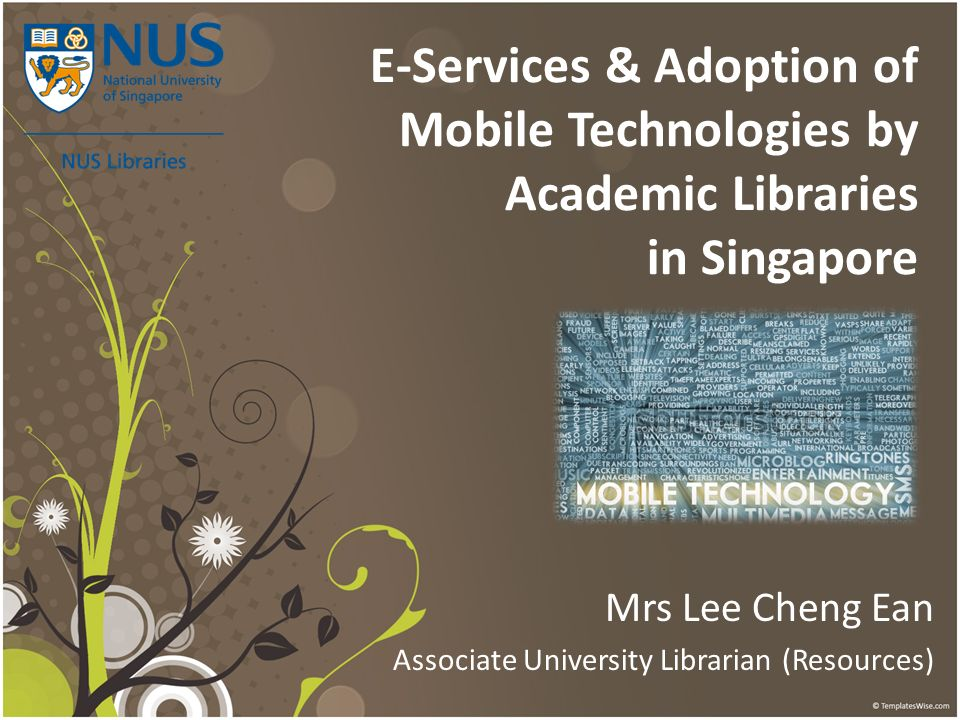 Mrs Lee Cheng Ean Associate University Librarian (Resources)