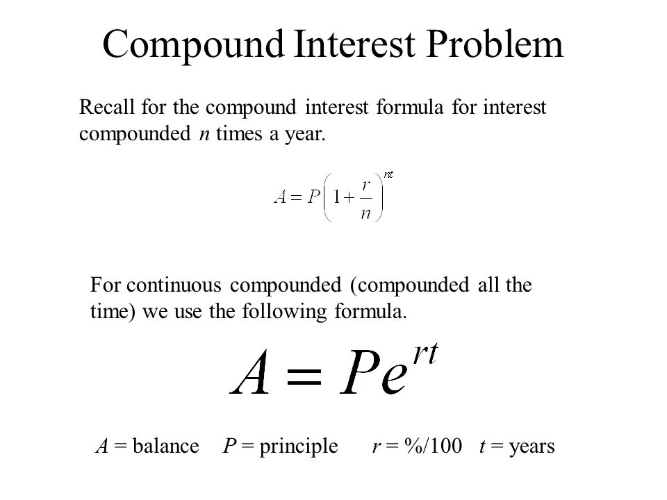 Compound Interest Problem