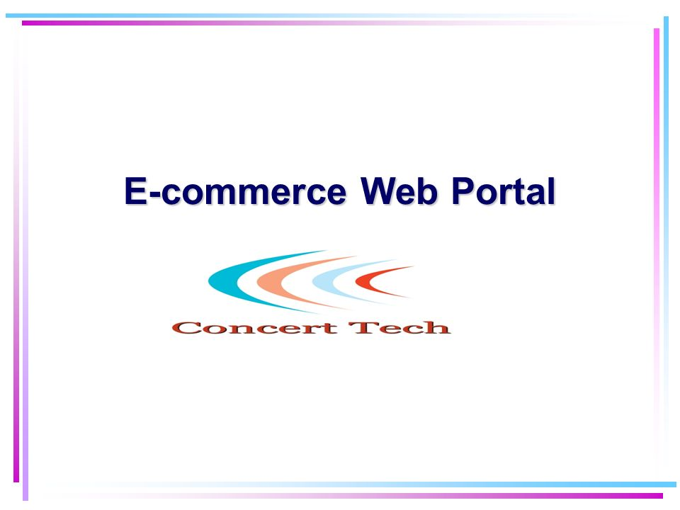 E-commerce Web Portal