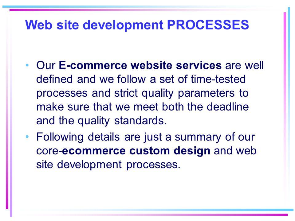 Web site development PROCESSES