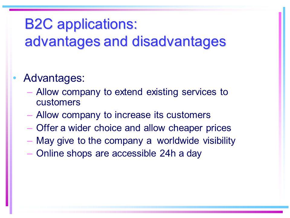 B2C applications: advantages and disadvantages