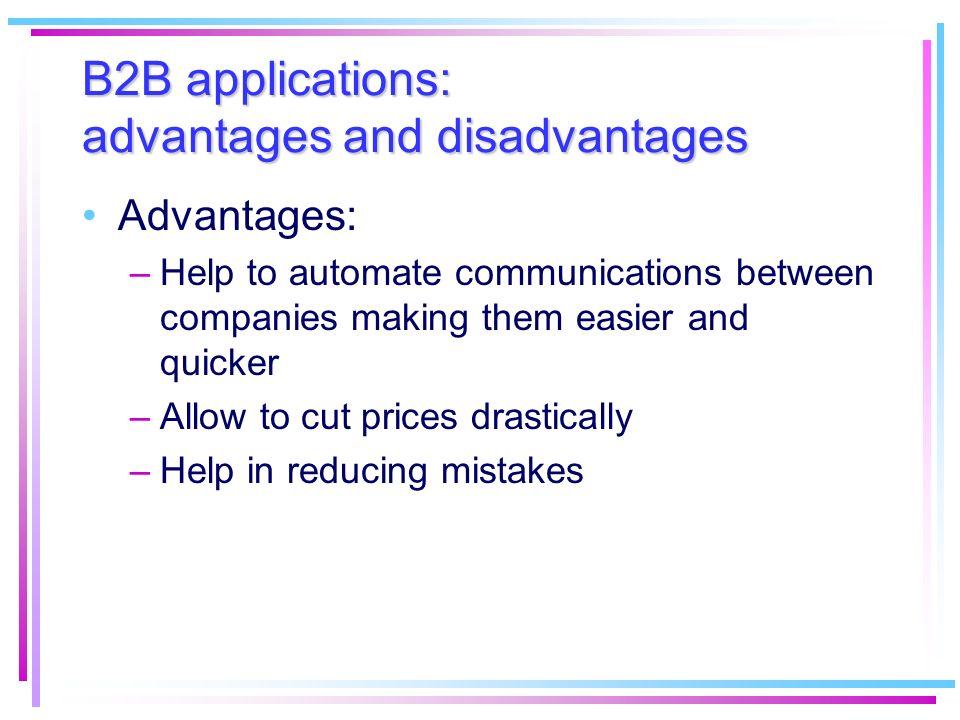 B2B applications: advantages and disadvantages