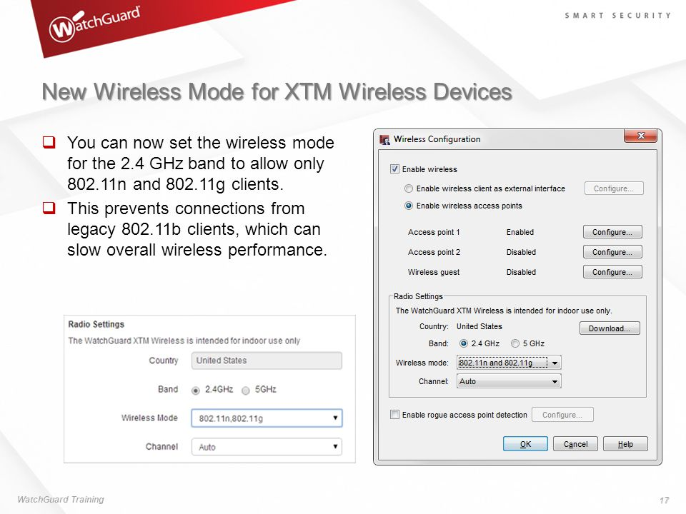 New Wireless Mode for XTM Wireless Devices