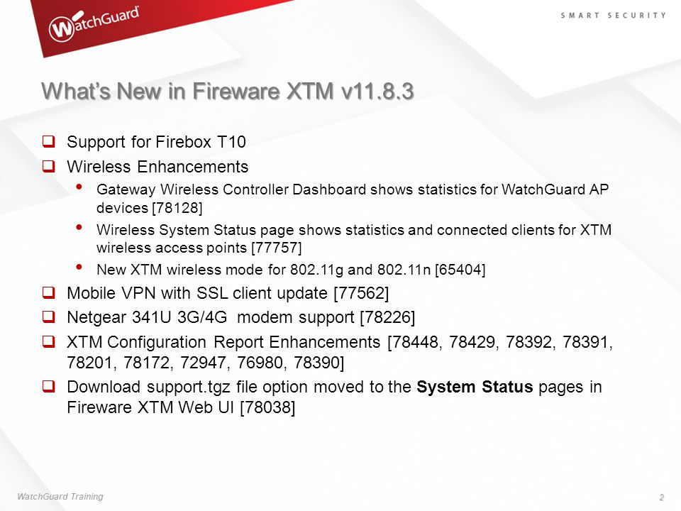 What's New in Fireware XTM v11.8.3