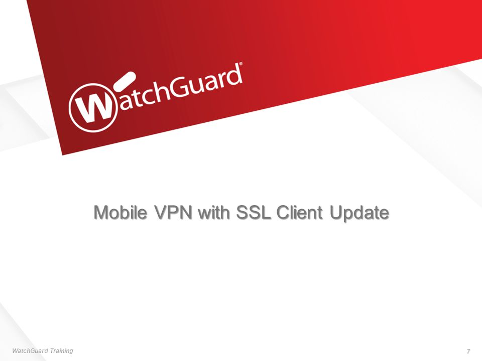 Mobile VPN with SSL Client Update