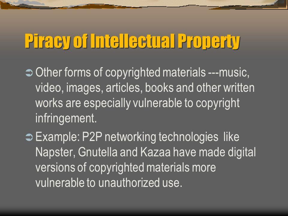 Piracy of Intellectual Property