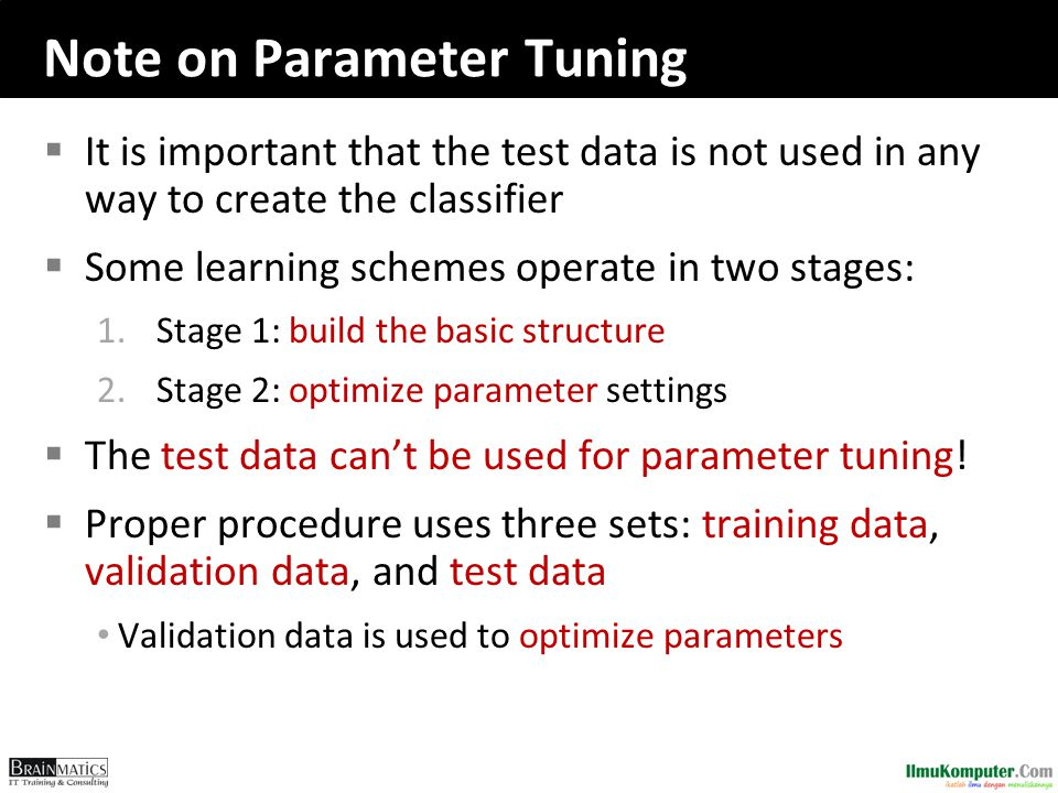 Note on Parameter Tuning