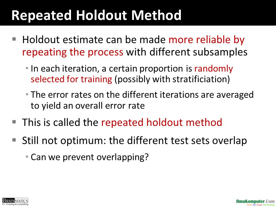 Repeated Holdout Method