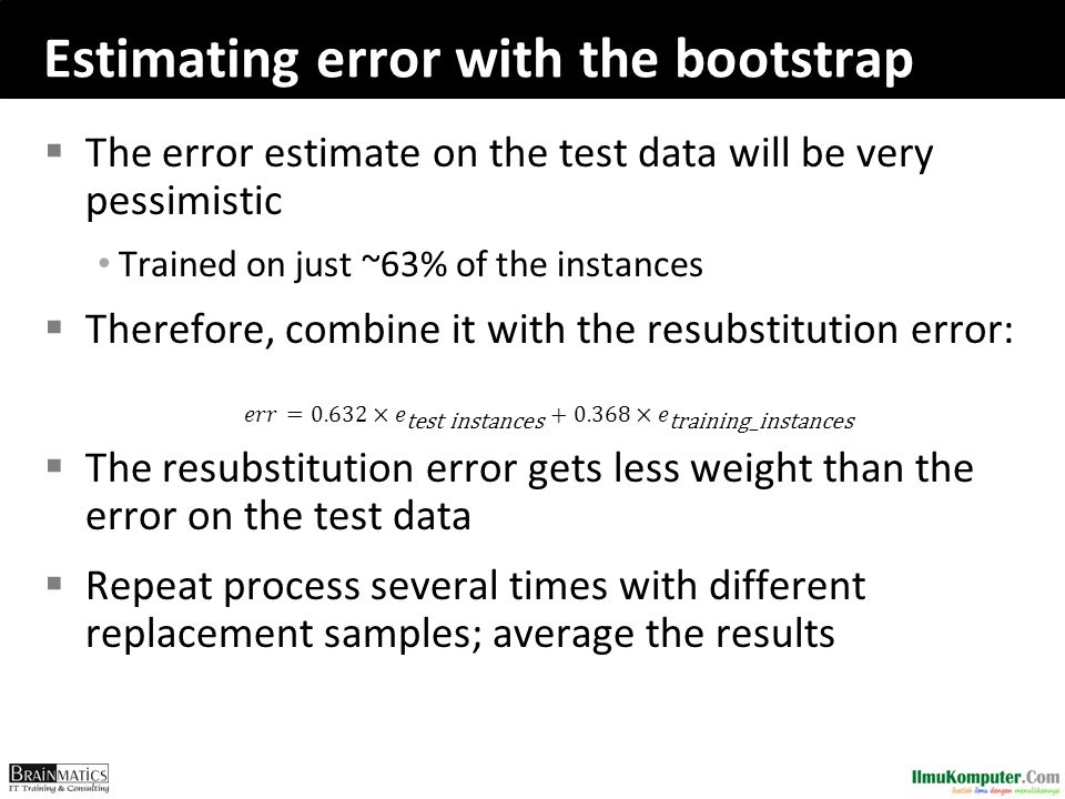 Estimating error with the bootstrap