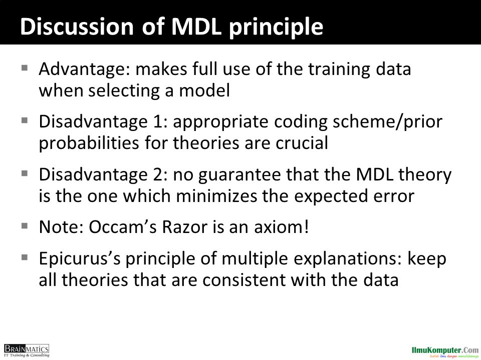 Discussion of MDL principle