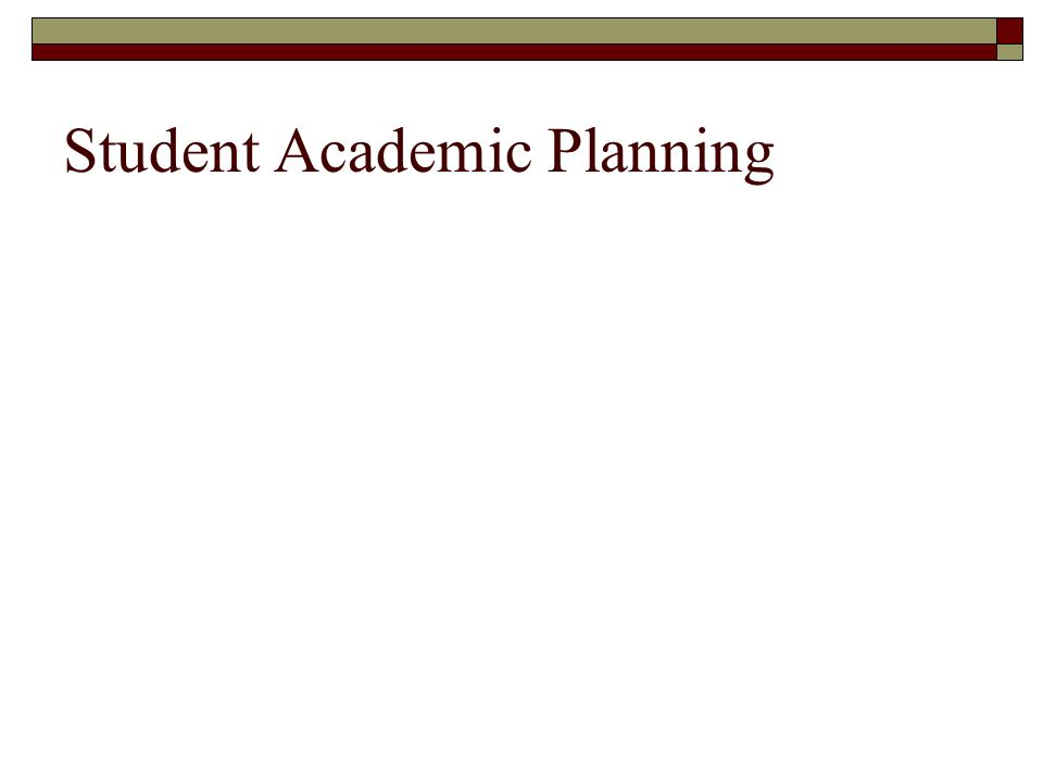 Student Academic Planning