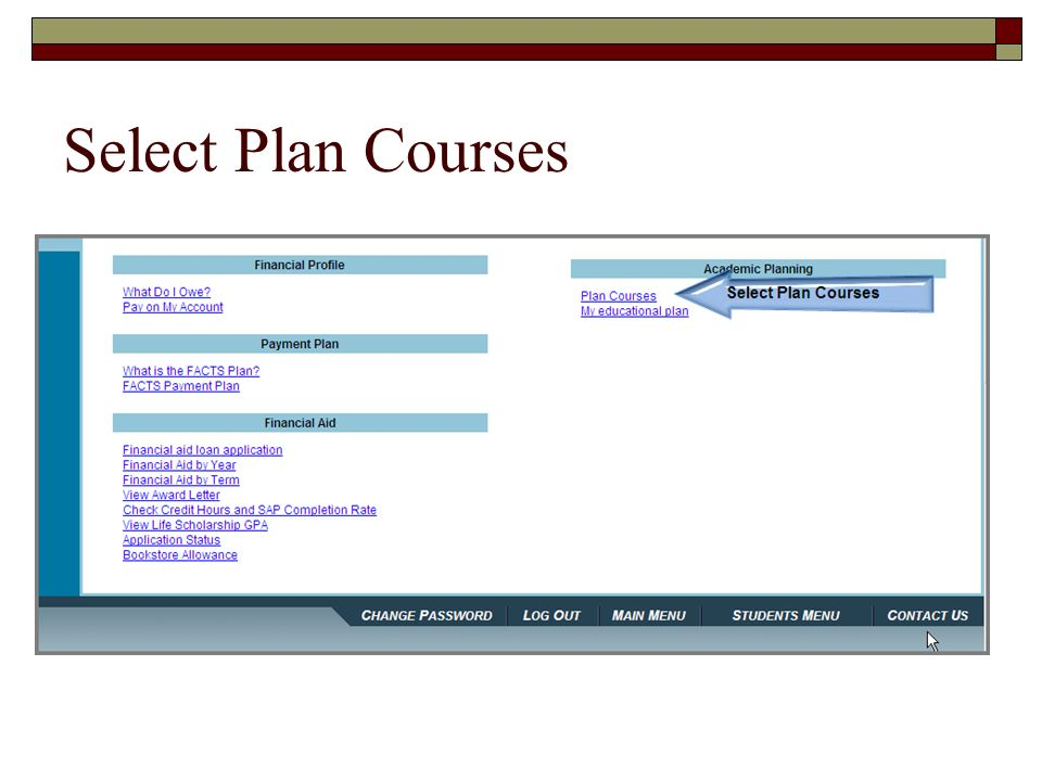 Select Plan Courses