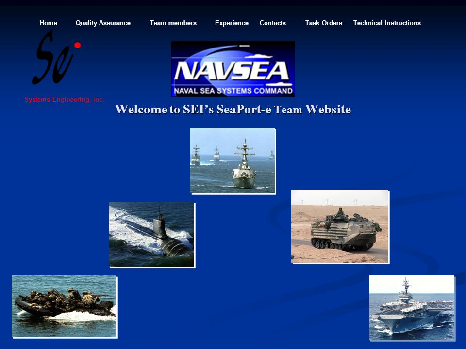 Welcome to SEI's SeaPort-e Team Website