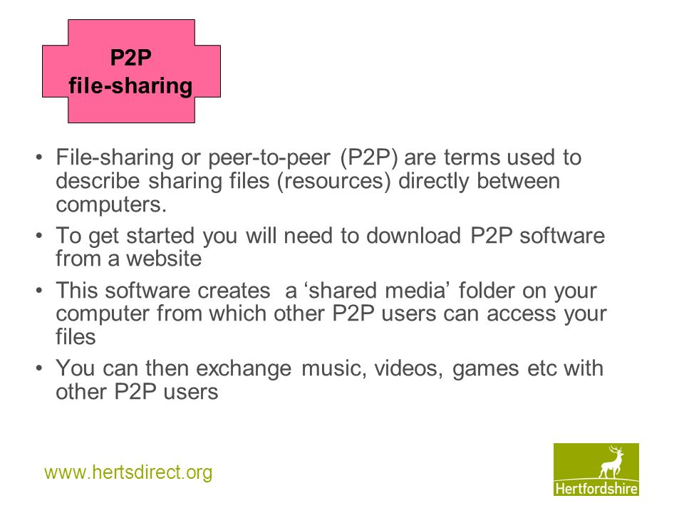 To get started you will need to download P2P software from a website