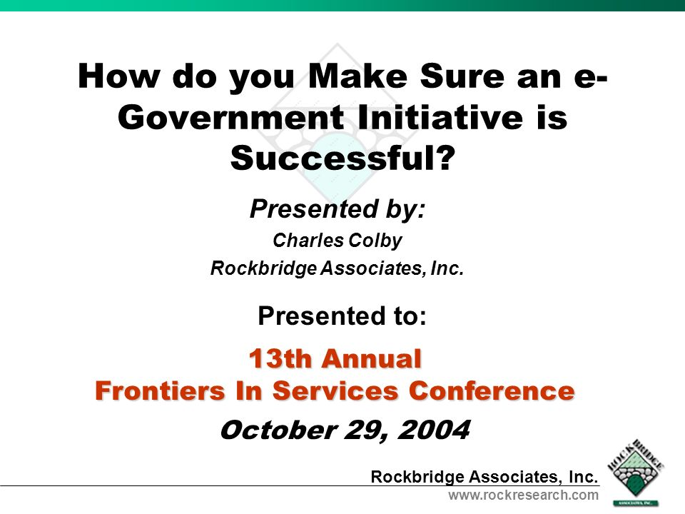 How do you Make Sure an e-Government Initiative is Successful