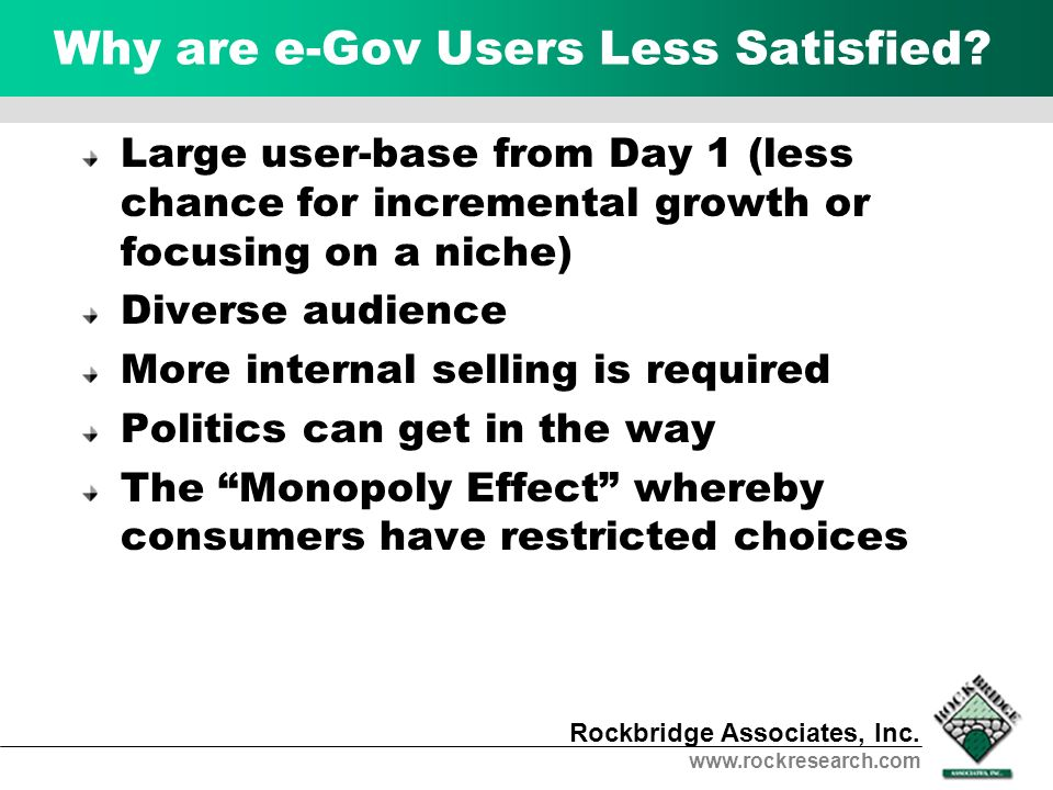 Why are e-Gov Users Less Satisfied