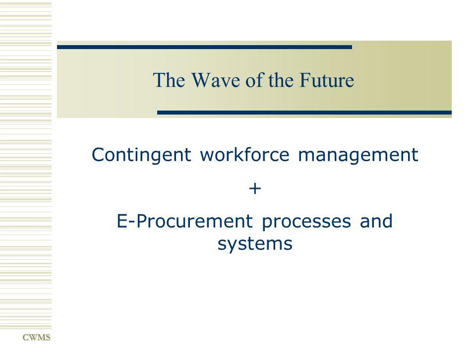 Contingent workforce management + E-Procurement processes and systems