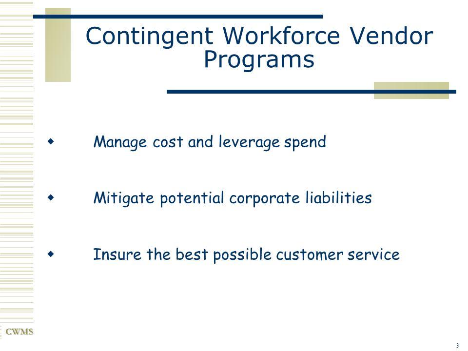 Contingent Workforce Vendor Programs