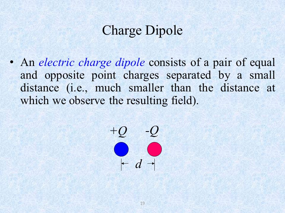 Charge Dipole