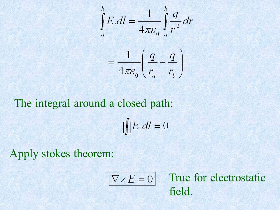 The integral around a closed path: