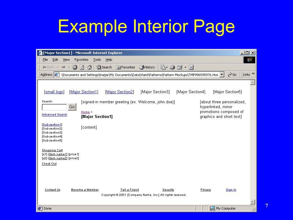 Example Interior Page
