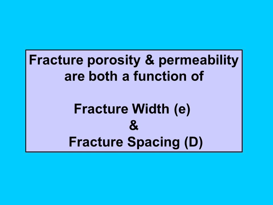 Fracture porosity & permeability