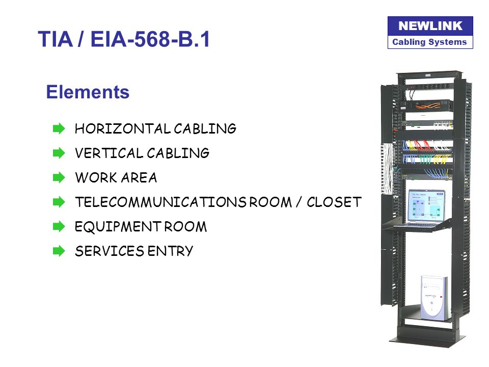 TIA / EIA-568-B.1 Elements HORIZONTAL CABLING VERTICAL CABLING