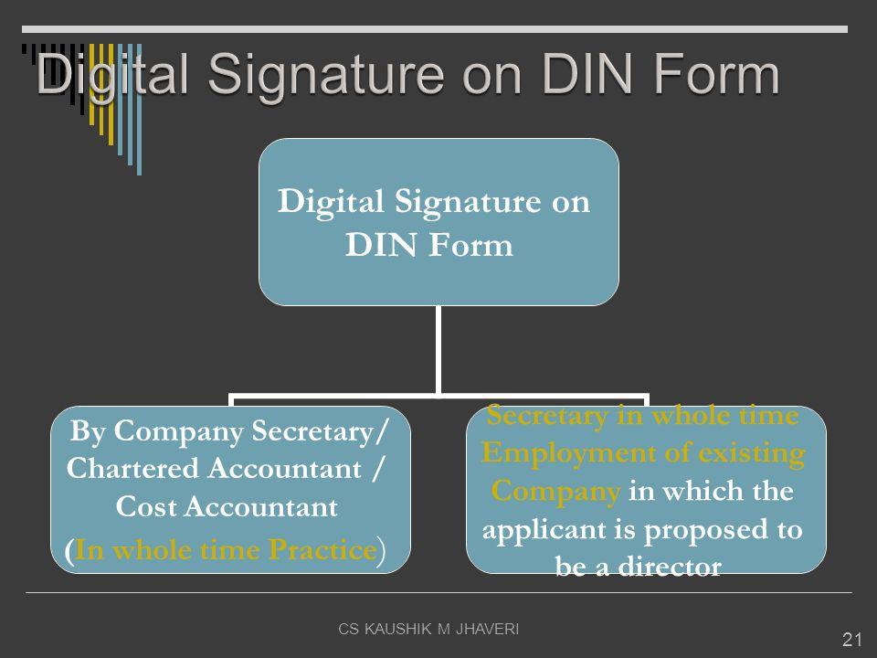 Digital Signature on DIN Form
